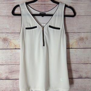Express women's zip up tank top faux pocket size S